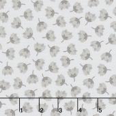Arctic - Flowers Grey Yardage
