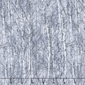 Snowscape - Icy Trees Frost Yardage