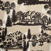 "Cuddle Prints - Open Range Sand 60"" Minky Yardage"