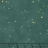 Shiny Objects - Jewels Flurries Blue Spruce Metallic Yardage