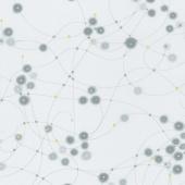 Day in Paris - Watercolor Dots Graphite Metallic Yardage