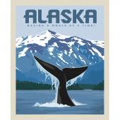 Destinations - Alaska Whale Digitally Printed Panel