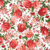 Prose - Mixed Floral Ultra White Yardage