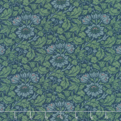 Best of Morris Fall - Flowering Scroll 1908 Indigo Yardage