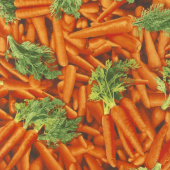 Novelty - Carrots Orange Yardage