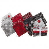 Winter's Grandeur 7 Scarlet Metallic Fat Quarter Bundle