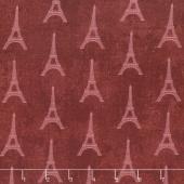 Paris, Always a Good Idea - Tour Eiffel Mini Red Yardage