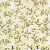Scarlet Dance - Leaves Allover Tan Yardage