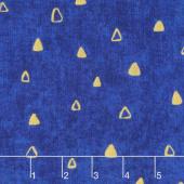 Gustav Klimt - Triangles Cobalt Metallic Yardage