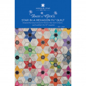 "Star in a Hexagon 1 3/4"" Quilt Pattern by Daisy & Grace for Missouri Star"