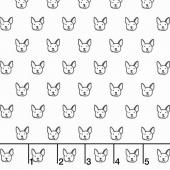 Whiskers & Tails - Dog Faces White Yardage