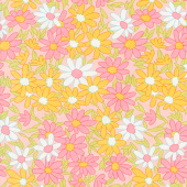 A Blooming Bunch - Daisy Chain Bubblegum Yardage
