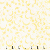 Forget Me Not Batiks - Star Butter Yardage