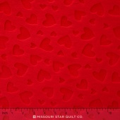 "Cuddle Embossed Heart - Scarlet 60"" Minky Yardage"