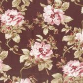 Burgundy & Blush - Trailing Roses Burgundy Yardage