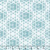 Palm Canyon - Triangles Teal Yardage