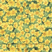 Garden Gathering - Small Flowers Green/Yellow Yardage
