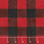 Winterfleece Prints Buffalo Plaids and Checks Red Fleece - 2 Yard Cut