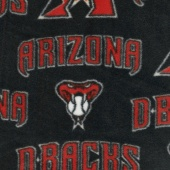 MLB Fleece - Arizona Diamondbacks Black/Red Yardage