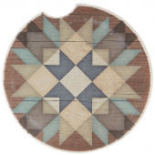 Quilt Car Coaster - Starburst