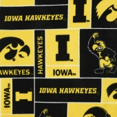 Fleece College - Iowa Hawkeyes Gold Yardage