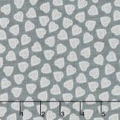 Scandi 5 - Hearts Gray Yardage