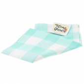 Home Grown Tea Towel - Buffalo Check Aqua
