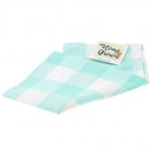 Home Grown Tea Towel - Buffalo Check Aqua