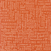 Autumn Love - Text Orange Yardage