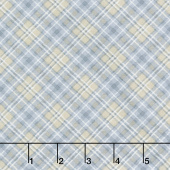 Snow is Falling - Plaid Grey Yardage