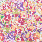Painterly Petals - Flowers Summer Digitally Printed Yardage