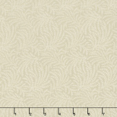 "108"" Quilt Back - Scrolling Vine Beige 108"" Wide Backing"
