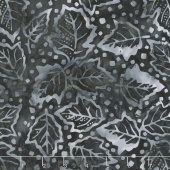 Tonga Batiks - Graphite Winter Leaves Slate Yardage