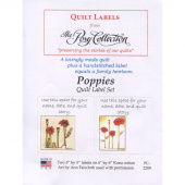 Poppies Digitally Printed Quilt Labels