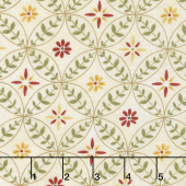 Scarlet Dance - Flower Rings Tan Yardage