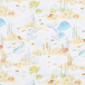 Water Wishes - Scenic Light Blue Yardage