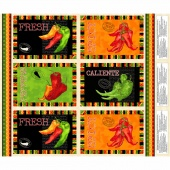 Caliente Peppers - Placemat Multi Panel