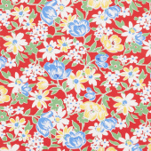 Sugar Sack II - Sweet Bouquet Red Yardage