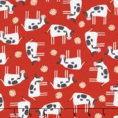 Wildflower Farm - Cows Red Yardage