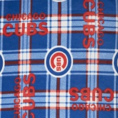 MLB Fleece - Chicago Cubs Blue/Red Yardage