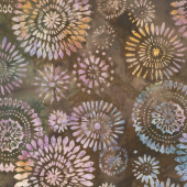 "Tonga Batiks - Kaleidoscope Medallion Lush 106"" Wide Backing"