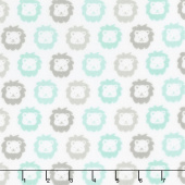 Cozy Cotton Flannels - Mint Lions Yardage