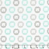 Cozy Cotton Flannels - Mint Lions Yardage