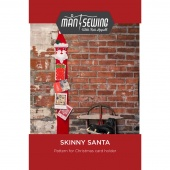 Skinny Santa Christmas Card Holder Pattern from Man Sewing