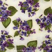 Arabella - Violet Plants Natural Yardage