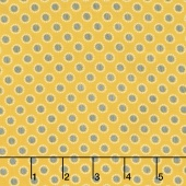 Linen and Lawn - Circle Yellow Cotton Lawn Yardage