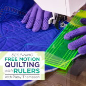 buy quilting product Beginning Free Motion Quilting with Rulers ECLASS0009