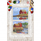 Catch of the Day - White Multi Digitally Printed Panel