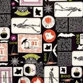 Eek Boo Shriek - Shriek Main Black Yardage