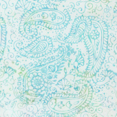 Fairy Slipper Batiks - Paisley Outlining Mardi Gras Yardage